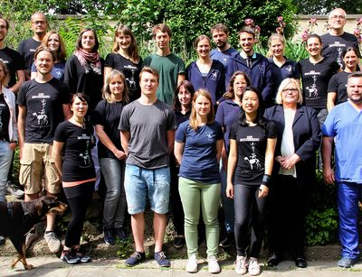 The team of the Institute of Anatomy, Histology and Embryology. Photo: Mirco Stemann